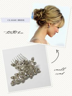 Classic bride wedding hair do