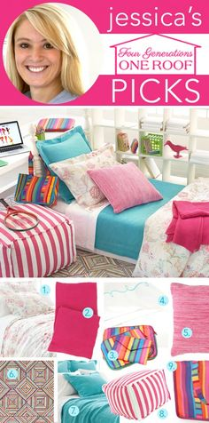 Boho girls back to school bedding with pinecone hill designed by Jessica @4gens1roof