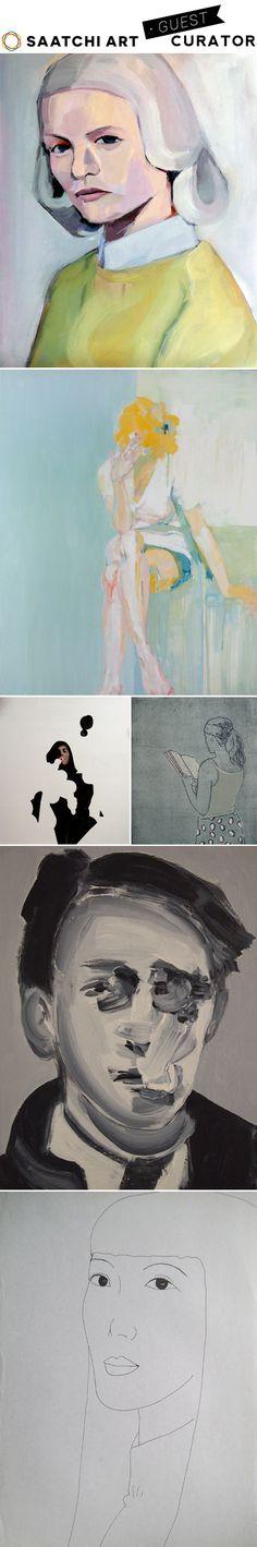 portrait show, a guest curation on saatchi art