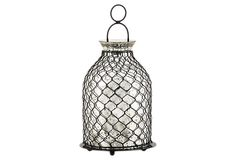 Chicken wire will be a huge #rustic #wedding trend in 2013 - these lanterns would make great centerpieces. Be sure to check out the rest of this #Pinterest Board to see more.