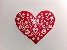 folk heart print