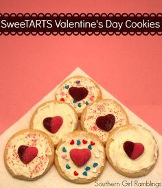 Easy SweeTARTS Valentine's Day Cookies #recipe #cookies #dessert
