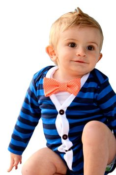 SALE :  Baby Cardigan - Blue Preppy Baby Boy Cardi - Perfect for a Fall or Winter Baby Shower Gift