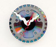 Clock made from a recycled Bike cassette gear by pixelthis on Etsy, $27.00