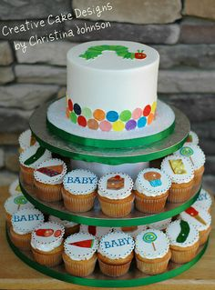 The Very hungry Caterpillar Tower by Creative Cake Designs (Christina), via Flickr