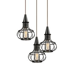This pendant trio is super cute, would be great in my dining area.