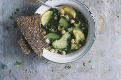 Summer Squash Soup with Herb Seeded Crispbread | With Food + Love