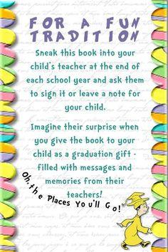 remember this, high school graduation, book, graduation gifts, graduation presents, place, teacher, gift idea, kid