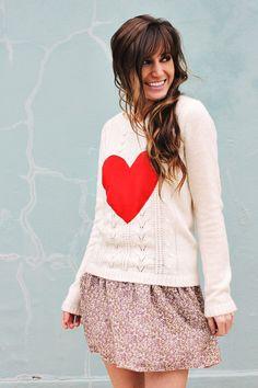 sweaters, diy heart, craft, fashion, cloth, style, diy sweater, hair, heart sweater