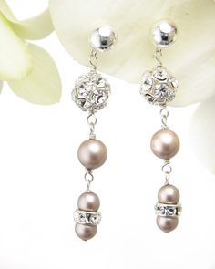 pearl, eleg earring, weddings, wedding jewelry, jewelri bridesmaid, women jewelri, alexand jewelri, jessica alexand