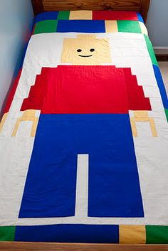 Lego Quilt Here are the instructions to make my Lego Man Quilt @Marilyn McMullan McMullan McMullan Richards Brady saw this and nearly fell over...ready for a retirement project?