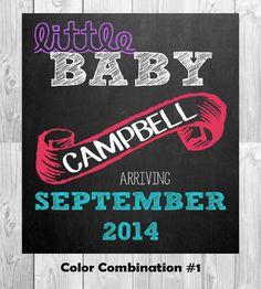 Pregnancy Announcement Chalkboard Photo Prop by MMasonDesigns, $15.00