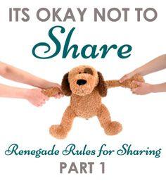 It's okay not to share! No, really!