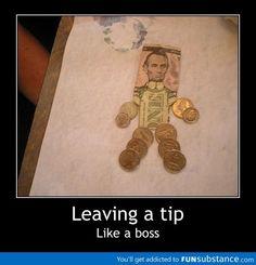 Leaving a tip like a boss! | Travel inspiration: http://driftersblog.com