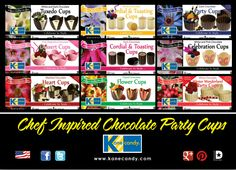 Chocolate Cups by Kane Candy now available in 9 Award Winning retail varieties! www.KaneCandy.com