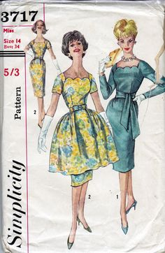 1960s Vintage Sewing Pattern Simplicity by allthepreciousthings,
