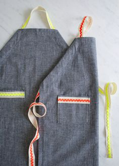Molly's Sketchbook: Kid's Ric RacApron - The Purl Bee -