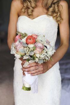 Colourful bridal bou