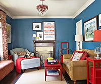 Budget Living Room Ideas- bold paint color