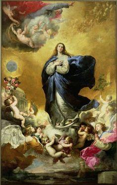 immacul concept, catholic, church, art, bless mari, paintings, jusep de, heavens, de ribera