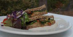Kale, lemon and cilantro sandwiches