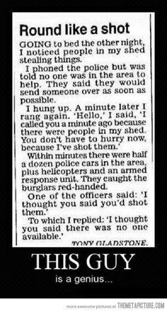 Calling the cops like a boss