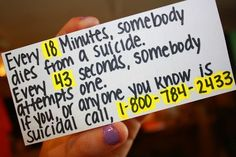 Please take thoughts of suicide seriously-- both in yourself and others. #suicide #dontgiveup #depression