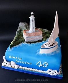 lighthouse cake by Sogni di Zucchero, via Flickr