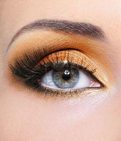 orange eyeshadow - love this!