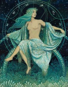 Asteria ~ Titan Goddess of prophetic dreams, astrology, and necromancy. She is the mother of Hecate by Perses.