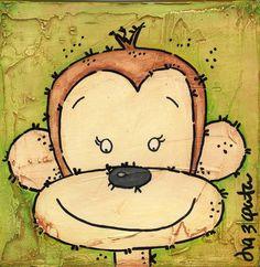 Lolo The Monkey by Isa Zapata