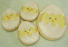 Chick Easter cookies (Chic Easter cookies??) :)