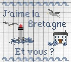 France - country - bretagne - point de croix - cross stitch - Blog : http://broderiemimie44.canalblog.com/