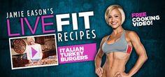 jamie eason turkey burgers, italian turkey burgers, burger recipes