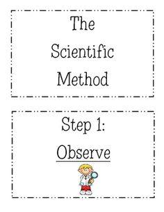 cute scientific method poster