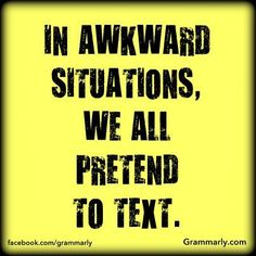 "How do you handle awkward situations? ""Repin"" if you can relate."