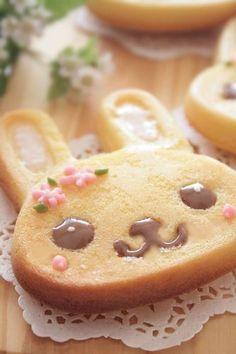Kawaii rabbit cake     #food #sweet #kawaii