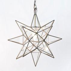 "Worlds Away Clear Star Chandelier Large @Sarah Nasafi Grayce  15"" $229"