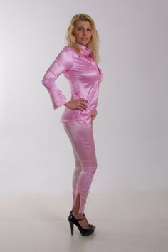 satin dream, silk satin, satin blusen, satin pant, satin fetish