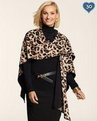 Reversible Cheetah Ruana