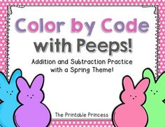 FREEBIE! Springtime addition and subtraction practice.