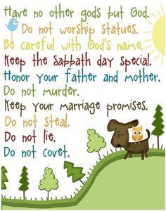 The Ten Commandments-Exodus 20