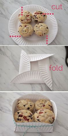 Easy paper plate box