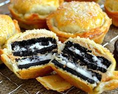 Oreo-stuffed pies?! YES PLEASE.