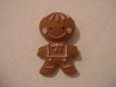 Vintage Avon Gingerbread Man Lip Gloss Pin. $8.00, via Etsy.