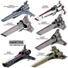 Battlestar Galactica Viper Comparison