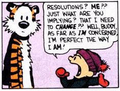 9 Steps To New Year's Resolutions That Last Longer Than New Year's Day hobb, laugh, funni, year resolut, resolutions, humor, calvin, quot, new years