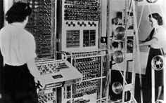 Women at Bletchley Park with the Colossus computer