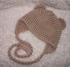 Free Crochet Pattern Baby Beanie With Brim : crochet animal hats crochet patterns on Pinterest Hooded ...