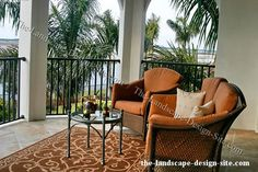 Tropical Terrace Balcony Patio